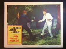 "STEVE McQUEEN 11x14  ""BABY THE RAIN MUST FALL"" FILM PROMO THEATER LOBBY CARD"