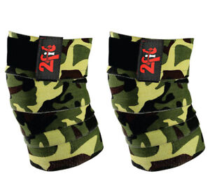 2Fit Knee Wraps Bandage Weight Lifting Knee Support Sleeve Crossfit Gym Training