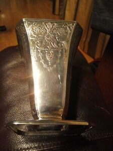 1894 Tiffany & Co Sterling Silver Vase With Brass Flower Frog