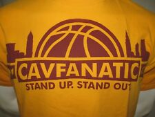 Used 2000s Cavfanatic Stand Up Cleveland Cavaliers NBA Screened T-Shirt Large