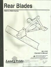 LAND PRIDE REAR BLADES RB25 RB35 Series 301-131M Tractor Operator Manual