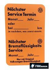 Original Volkswagen Service Aufkleber Orange T3 Golf Jetta GTI Wartung NEU