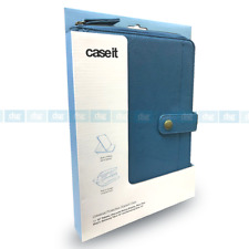 Caseit Universal Zip Case Cover with Built in Stand for 10 inch Tablet Blue