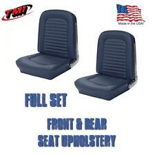 1964 &1965 Mustang Convertible Seat Upholstery Blue Front & Rear IN STOCK!!