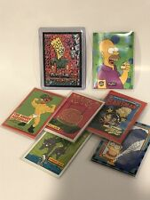 LOT of SIMPSONS 1994 chase cards WIGGLE, BARTMAN, SMELL-O-RAMA, ARTY ART, MORE!