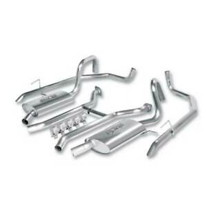 "Borla Dual 2.25"" To 2"" SS Cat-Back Exhaust For Ford Crown Victoria 4.6L 03-09"