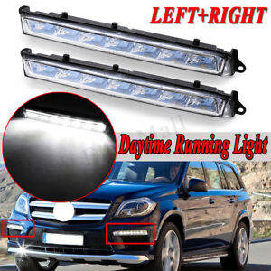 LED DRL Daytime Running Driving Light For Mercedes-Benz GL X166 350 450 500 550