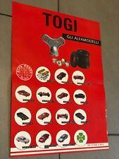 1:24 1:25 TOGI Alfa Romeo Catalogo Brochure Foglio Auto Poster VINTAGE  1