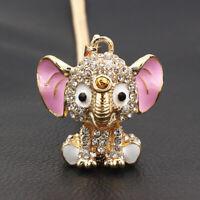 Betsey Johnson Enamel Crystal Cute Elephant Pendant Sweater Chain Necklace Gift