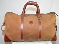 Rare Vintage Timberland Leather Duffle Bag Circa 1980s  22 x 12 x 12 USA Brwn