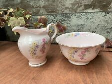Tuscan Pink China Milk Creamer and sugar bowl set  Fine bone China
