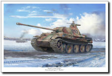Winter Comes Early by Mark Karvon -  Panther Tank - Military Art Print