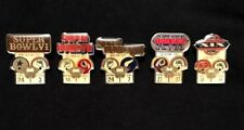 Miami Dolphins Set of all 5 Nfl Super Bowl Pins Starline Collector-Vintage Rare!
