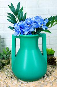 Ebros Teco Art Pottery Frank Lloyd Wright Contemporary Satin Green Roman Vase