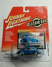 JOHNNY LIGHTNING 1965 VOLKSWAGEN BEETLE CLASSIC CAR 1:64 BLUE
