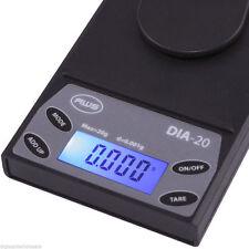 AWS DIA-20 Carat Grain Milligram Pocket Lab Scale 20g x 0.001g Dwt Accurate