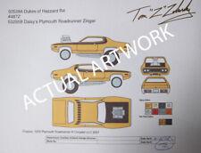 1:64 Johnny Lightning Dukes of Hazzard Daisy's Roadrunner ZINGER ARTWORK