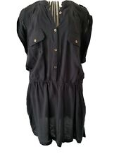 New Look Shirt Dress, Size 18, Black
