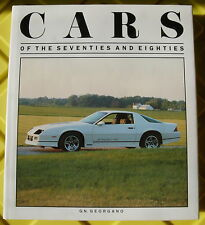 CARS OF THE SEVENTIES AND EIGHTIES, GEORGANO, NEW 1990 HARDBOUND BOOK On Sale