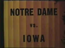 1939 Notre Dame @ Iowa College Football DVD Kinnick Prasse Zontini FREE SHIPPING