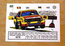 1978 belga Rallycross circuito Ford Escort Mk2 Motorsport ETIQUETA / ETIQUETA