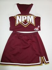 "Real Cheerleader Uniform Cheer Outfit Costume XL Youth 34"" Top 25"" Skirt CDT"