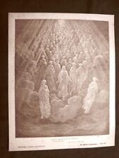 Incisione Gustave Dorè del 1890 Dante ragione con Anima Divina Commedia Paradiso