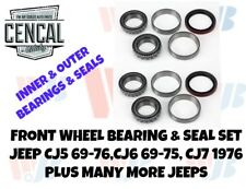 Front Wheel Bearing & Seal Set Jeep CJ5 CJ6 CJ7 J SERIES   A35  8430S  KIT 14