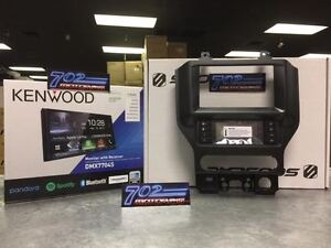 KENWOOD DMX7704S + SCOSCHE FD6210B 2015-UP FORD MUSTANG INTEGRATED TOUCH SCREEN