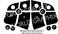 Mercedes Benz ML GL 320 450 Steering Wheel Black Button Repair Decal Stickers