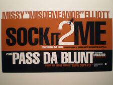 """MISSY ELLIOTT - SOCK IT 2 ME / PASS DA BLUNT (12"""")  1997!!  RARE!!  TIMBALAND!!!"""