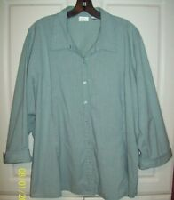 Riders by Lee Women 3/4 Sleeve Shirt Top Blouse STRIPES Size 2X Easy Care