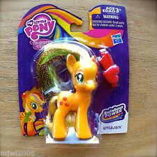 "My Little Pony APPLEJACK Friendship is Magic RAINBOW POWER Hasbro 3"" MLP G4 New"