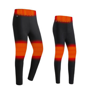 New Mens Winter Warm Electric Heated Trousers USB Heating Pants Thermal Leggings