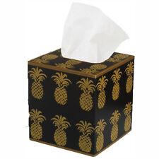 Tissue Box Cover Square Wood Bathroom Accessories Dispenser Holder Pineapple