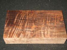 "Curly Claro Walnut Lumber Block Carving Craft Art Knife Call 10"""