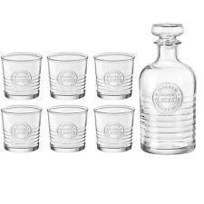Bormioli Rocco Officina Whisky Decanter (1000ml) & Set of 6 Glasses (300ml)