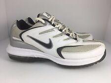 Nike Air Max Edge Men US 8 White + Navy Golf Shoes Cleats  J27