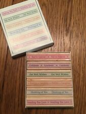 NEW Hero Arts Set of 6 Fanciful Card Making Set Hardwood Mounted Rubber Stamps