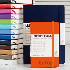 Leuchtturm1917 Classique Couverture rigide bloc-notes - TOUTES COULEURS,Tailles