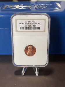 1964 NGC Lincoln Cent Proof PR 68 RD Ultra Cameo
