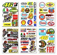 Neu Rossi 46 Motorrad Aufkleber auf Bogen BikeTuning Rennsport MotoGP Öl Decal