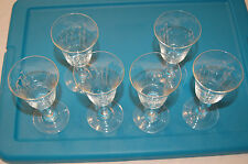Noritake Sasaki Bamboo etched Wine? goblets/glasses (6) Excellent