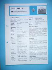Service Manual-instrucciones para Telefunken M Studio e 50/60, original