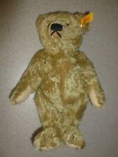 """Vintage 1960 Steiff 11"""" Blonde Mohair Teddy Bear"""