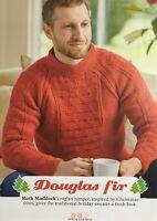 KNITTING PATTERN Mens Textured Raglan Jumper Long Sleeves High Neck Sweater