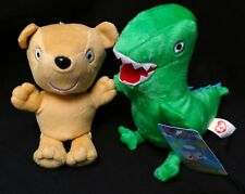 2PC PEPPA PIG TEDDY BEAR & GEORGE MR DINOSAUR PLUSH TOY STUFFED ANIMAL
