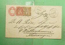 DR WHO 1870 SWITZERLAND WALDO UPRATED STATIONERY TO GERMANY  g02974