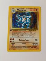 Pokemon TCH Machamp Base Set 1 First Edition Revised Rare Holo 8/102