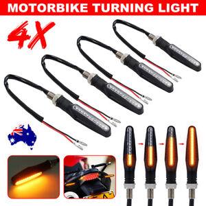 4X Universal Motorcycle Indicators Bike LED Bulb Blinkers Turn Signal 12V 12LED